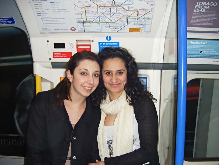 London students taking the tube