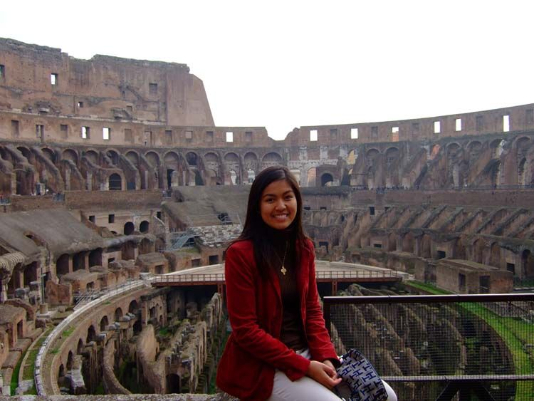 Rome student in the Colosseum