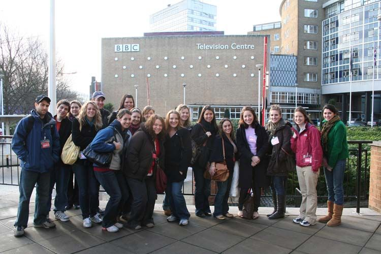 By the BBC television centre