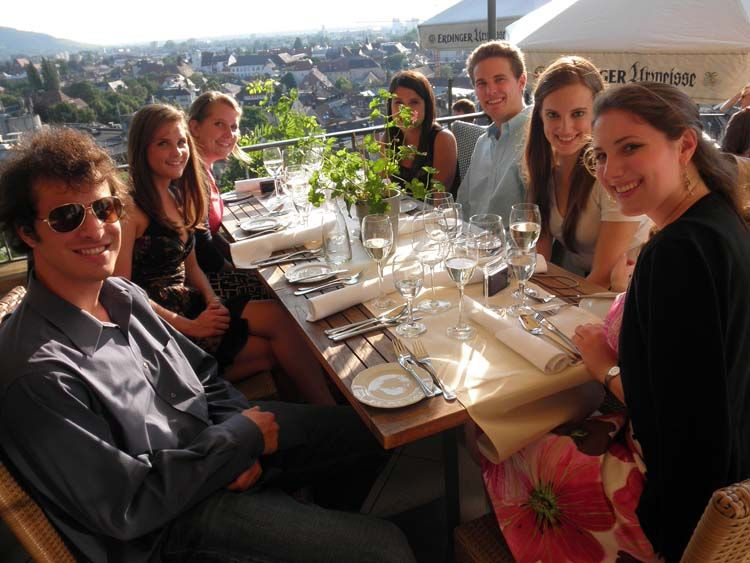 Having a meal together in Freiburg