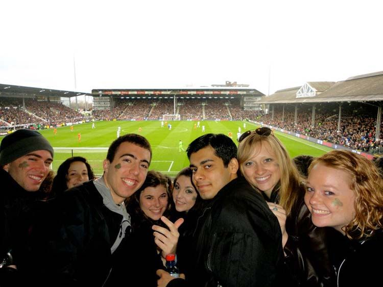 Students at a sporting event