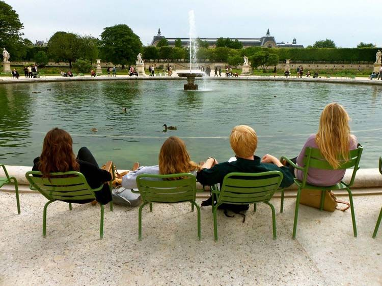 Sitting by the Tuileries Garden