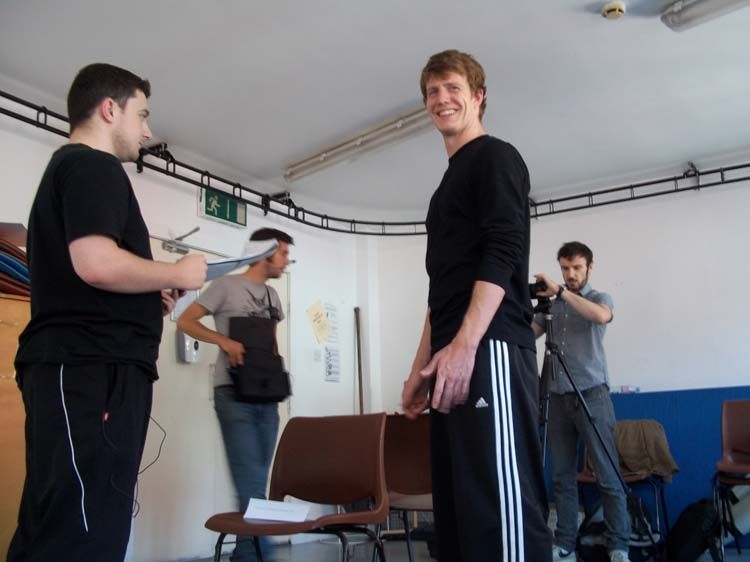Dublin student having acting practice