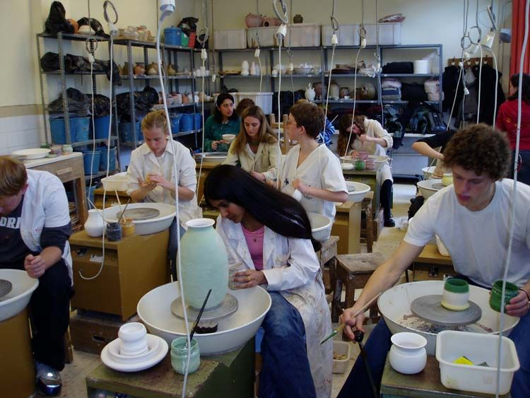 Taking a pottery class