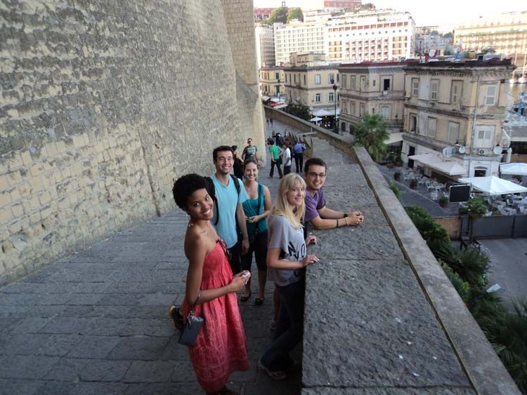 Group of students exploring Rome