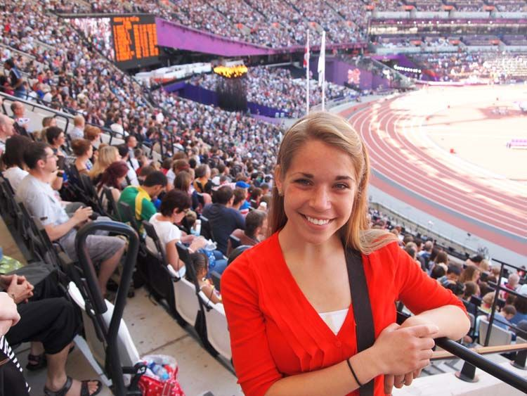 Student at the London Olympics