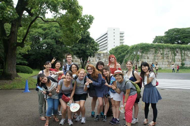 Group of students in Nagoya