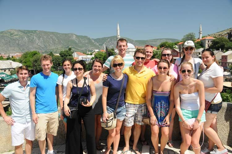 Group of European Union students