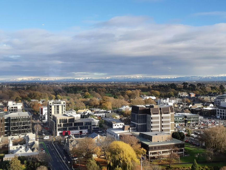 View of Christchurch during the day.