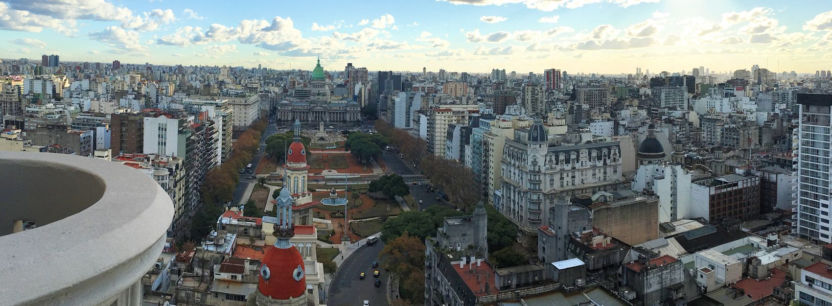 city skyline of Buenos Aires from above