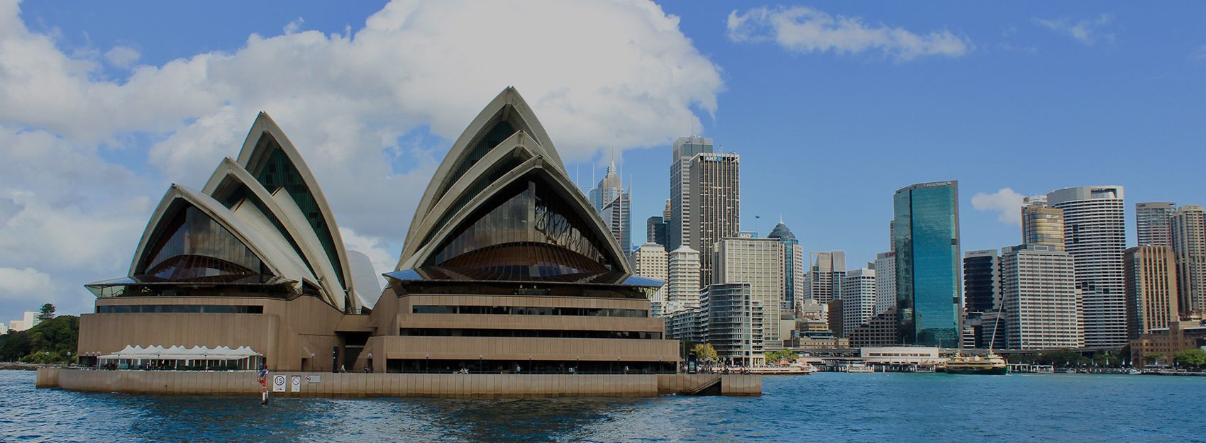 sydney opera house and harbor in sydney, australia