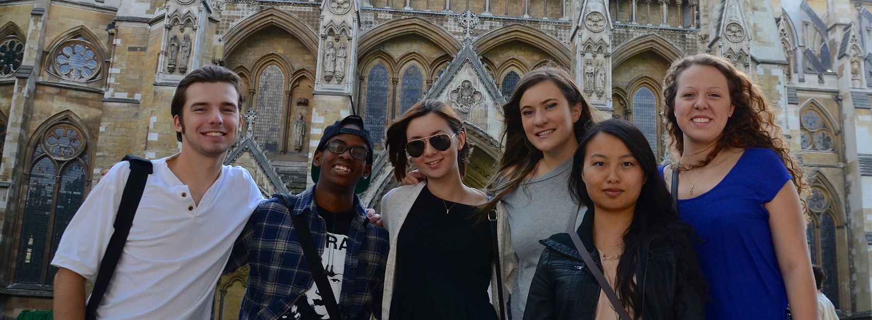 Students at Westminster Abbey
