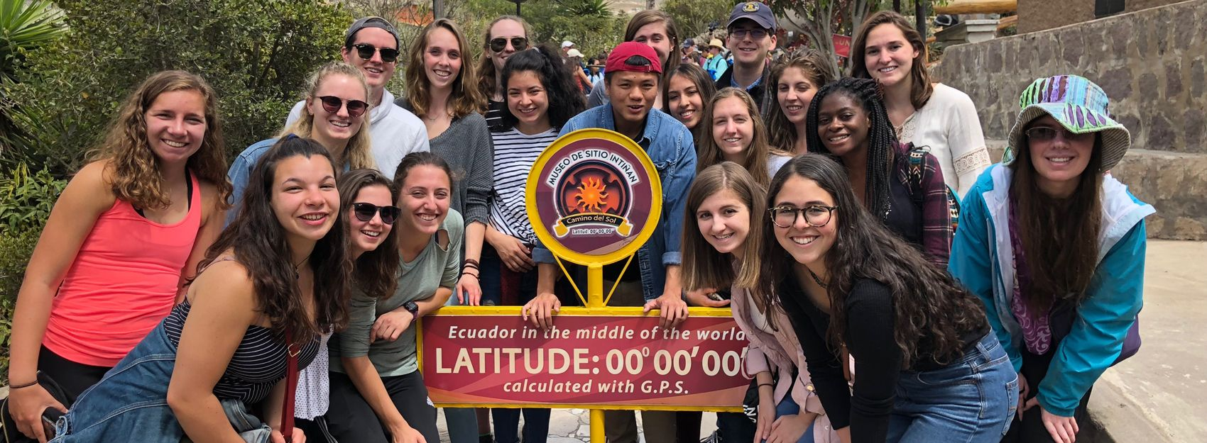 Faculty-Led Study Abroad Students in Quito at the Equator