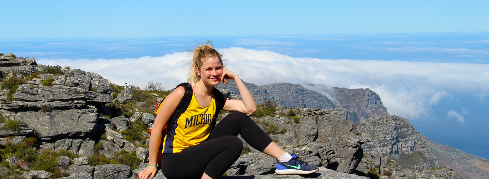 University of Michigan study abroad student in Cape Town