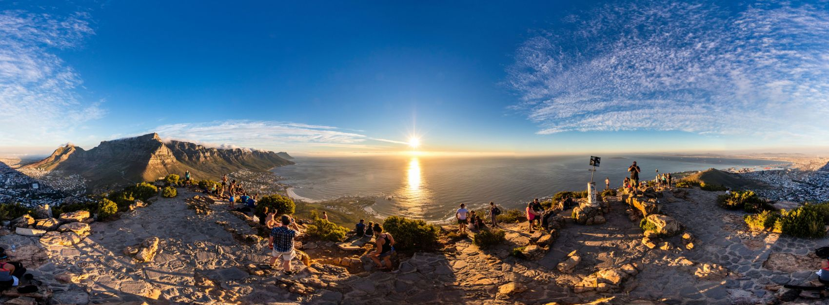 Panorama of Lion's Head in Cape Town