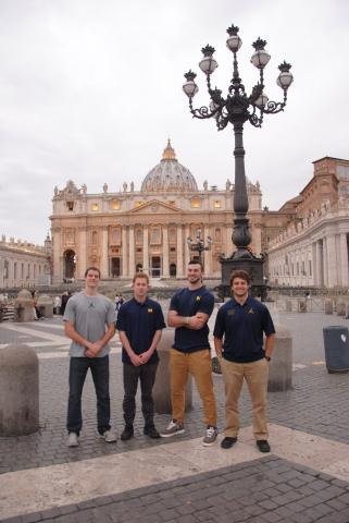 University of Michigan Football Players Study Abroad in
