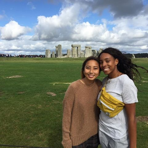 What's the meaning of Stonehenge?  . . . Our Fall students taking in the majestic sight of #Stonehenge, an ancient rock formation dating back thousands of years. To this day it's exact purpose is still debated! . . . #iesabroad #studyabroad #internabroad #stonehenge