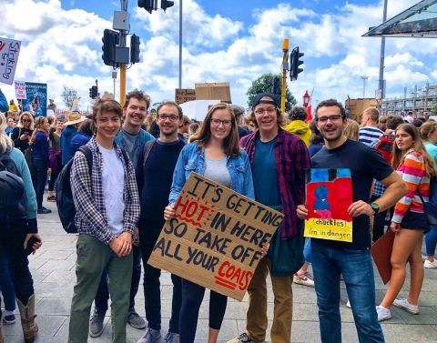 Auckland Climate Strike 2019. Here are our Fall 19 students who decided to participate   @devin_marty  #studyabroad #iesabroad #climatestrike #fridaysforfuture #uoa #auckland #protectpapatuanuku #aotearoa #newzealand
