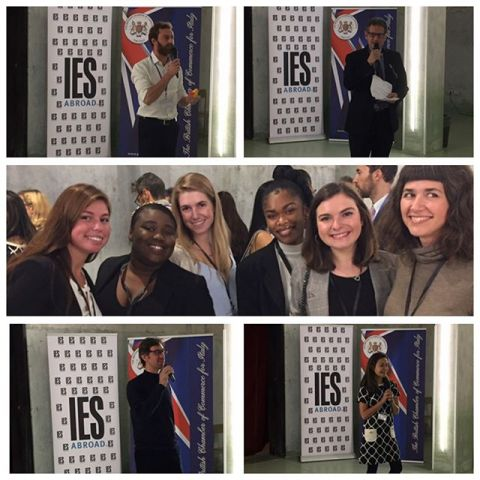 Internship students networking with local companies during the IES Milan Networking Event in partnership with  the British Chamber of Commerce. #iesabroadmilan #iesabroadinternships #studyabroad  #networking