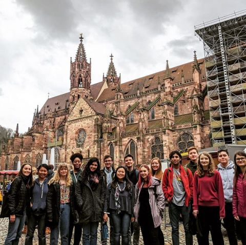 #tbt a fun citytour to get to know our beautiful city. Freiburg misses you!! #iesabroad #iesabroadfreiburg #studyabroad #citytour #memoriesforlife #bettertogether #environmentalstudies