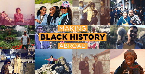 Collage of student study abroad photos