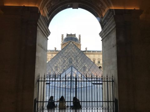 From inside the Louvre