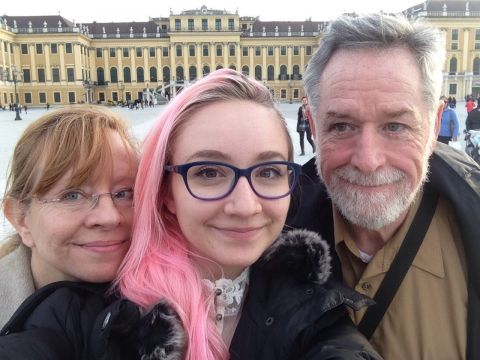 In Front of the Shönbrunn with My Parents!