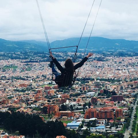 Just hanging over Cuenca, Ecuador