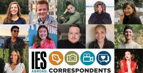 Fall Correspondents with IES Abroad Logo