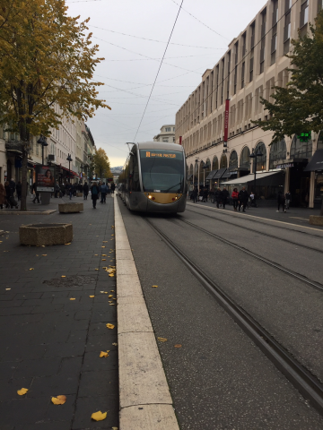 Tram Line One In Nice