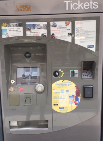 The Ticket Machine for the Trams in Nice