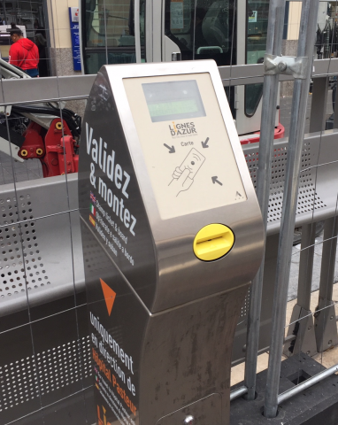 A Ticket Validation Machine For the Trams in Nice