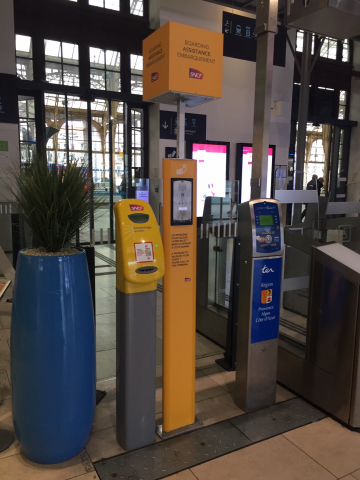 A Train Ticket Validation Machine In the Nice Ville Station