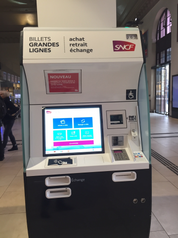 A Ticket Machine for the Trains in the Nice Ville Station