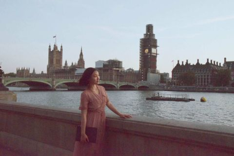 Me with the Big Ben, but it is under construction.