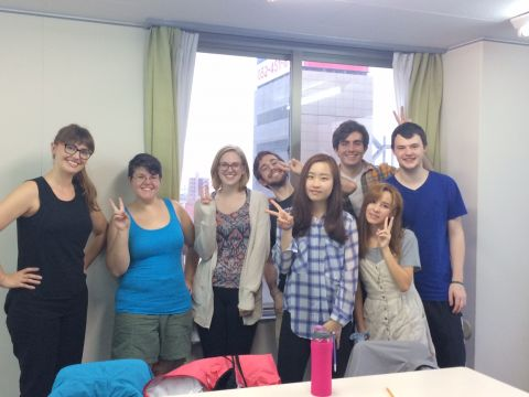 Visiting our summer program in Nagoya, Japan in Summer 2016. A wonderful and rewarding experience getting to meet my advisees in-country!