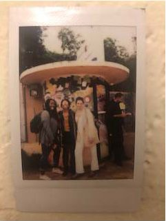 Polaroid of Yazmin with colleagues in Rabat