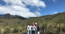 My host mother and grandmother in Quito with me at Cotopaxi national park.