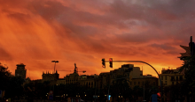 Sunset in Barcelona