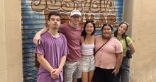 A Group of New Friends on the DiscoverIES Santa Caterina Market Tour