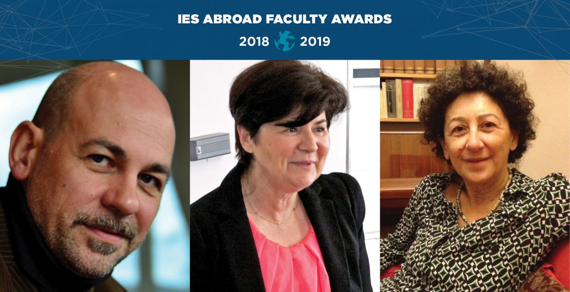 The winners of the 2019 IES Abroad Faculty Awards