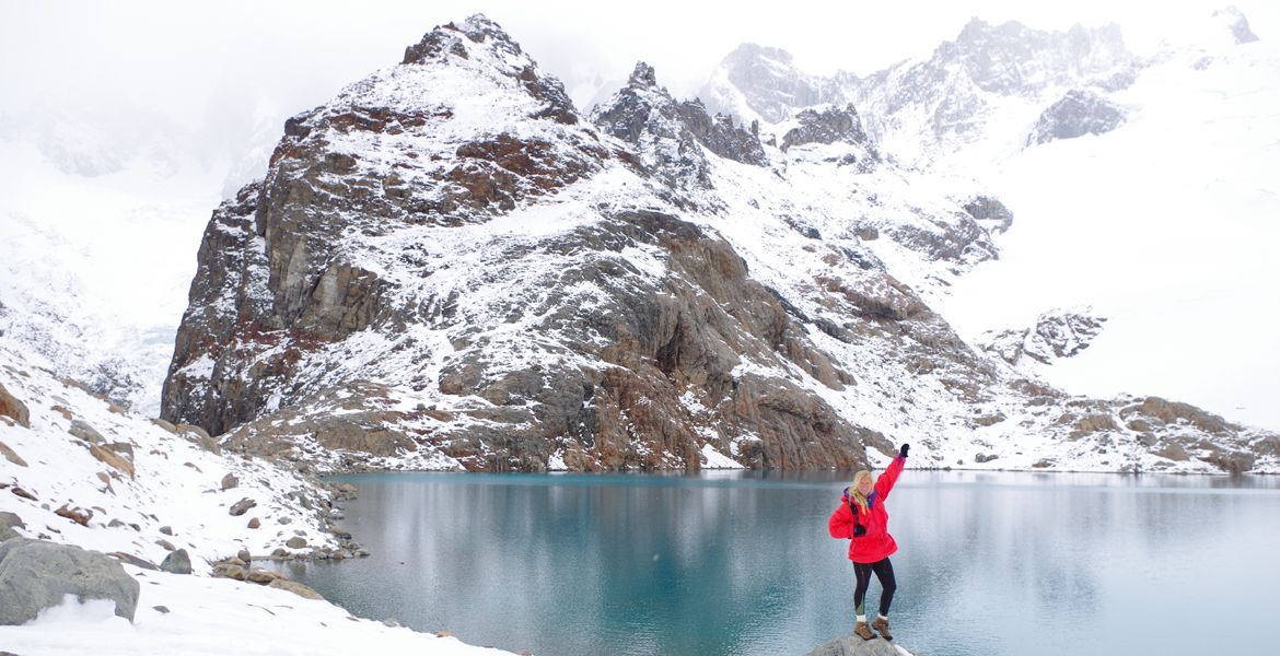 student studying abroad in argentina at fitz roy