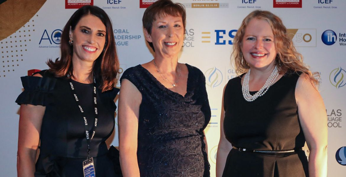 Nadine Baldani, Dr. Mary M. Dwyer, and Sarah E. Spencer at the WIE Awards in Berlin
