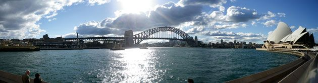 Photo of Sydney Harbor Bridge and the Sydney Opera House