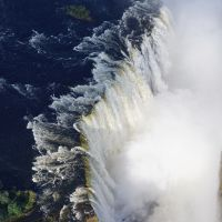 View from helicopter ride over Victoria Falls