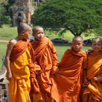 Young Buddhist Monks at Tomb Raider Temple