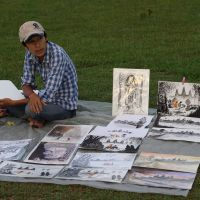 Artist on the Angkor Wat Grounds