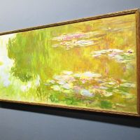 The Water Lily Pond by Claude Monet at the Albertina.