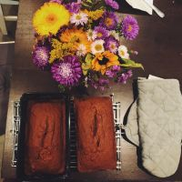 Pumpkin bread. (I love pumpkin and all squashes- so fall and so delicious!)