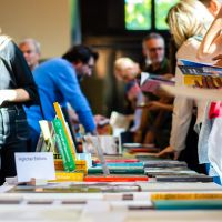A few booths at Unseen's bookmarket, where a wide variety of photo books were displayed and sold.